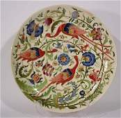 487 LARGE WELLDECORATED ZSOLNAYPECS PORC CHARGER