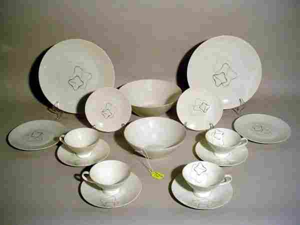 740: 55-PIECE ROSENTHAL CHINA DINNER SERVICE, ''Linear'