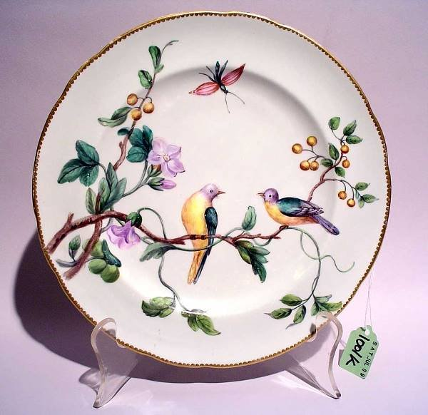 1001K: MINTONS DECORATED PORCELAIN CABINET PLATE, 19th
