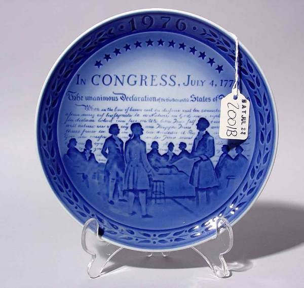 2001B: COLLECTABLE DECORATED ROYAL COPENHAGEN FOURTH OF