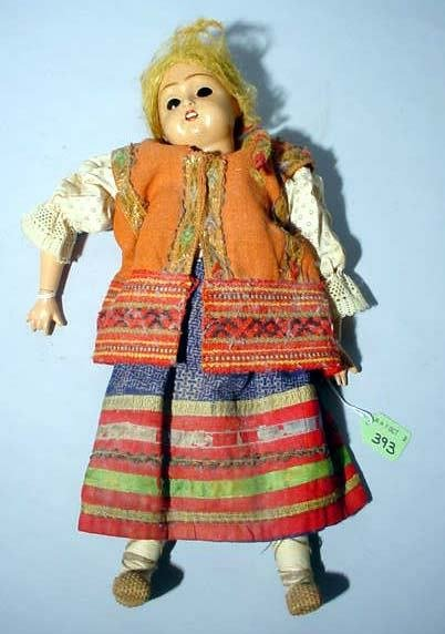 2001U: SMALL ANTIQUE CHINA-HEAD DOLL, early 20th centur
