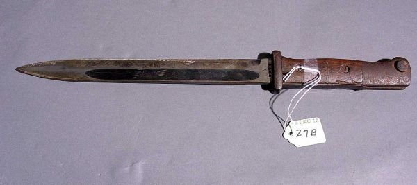 27B: WWII GERMAN MAUSER K-98 BAYONET M1884/98, with woo - 6