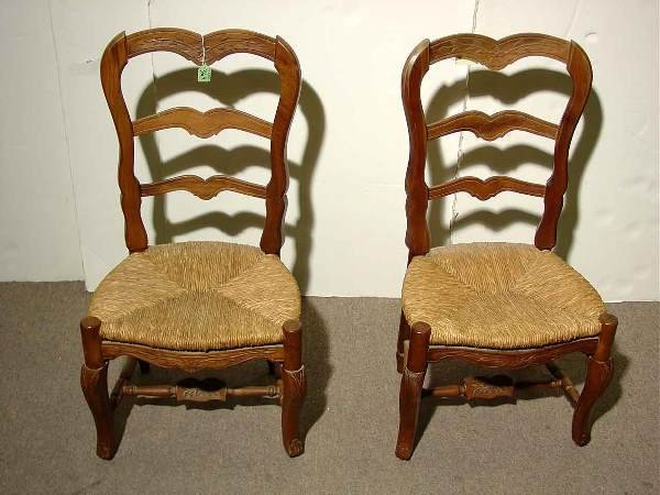 364: 19c SCARCE PR CHILDS PROV ST FRUITWOOD SIDE CHAIRS