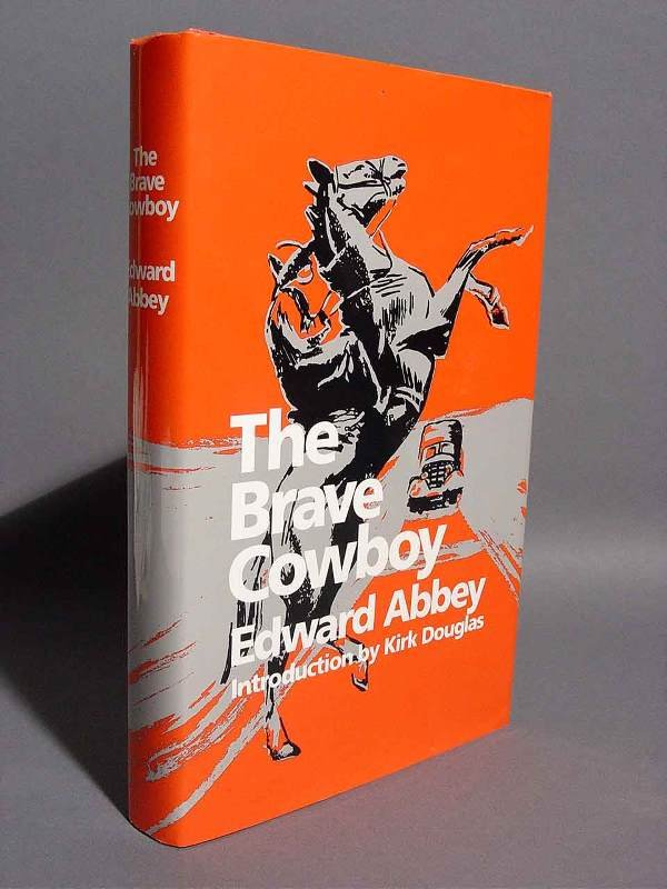 413A: KIRK DOUGLAS SIGNED BOOK, Abbey- The Brave Cowboy