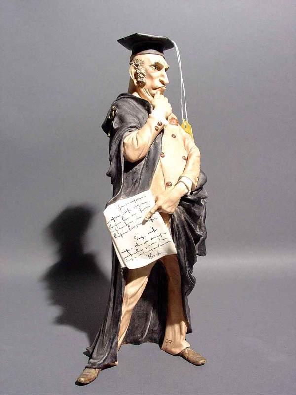 416: ITALIAN DEC BISQUE PORCELAIN FIGURE OF A LAWYER,