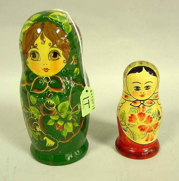 1T: LOT OF TWO RUSSIAN HAND DECORATED AND LACQUERED TUR