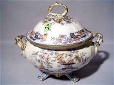 270 LARGE FLORAL AND GILT DECORATED IRONSTONE CHINA CO