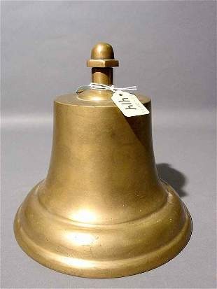 SMALL CAST BRONZE SHIP'S BELL, 20th century, with