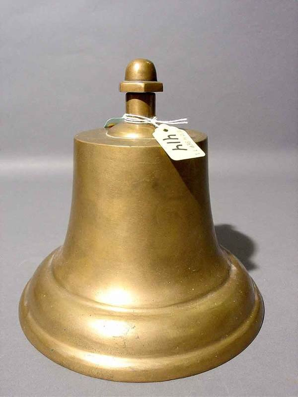414: SMALL CAST BRONZE SHIP'S BELL, 20th century, with