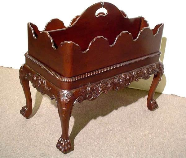 433: BAKER CARVED MAHOGANY GEORGIAN STYLE TWO-PIECE MAG