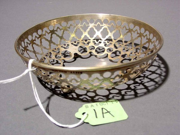 1A: SMALL GORHAM STERLING CIRCULAR PIERCED BOWL, no lin