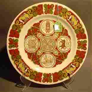 SPODE PORCELAIN PLATE - Durrow Plate, 20th century,