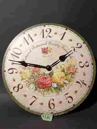 HOWARD MILLER WALL CLOCK - SAVANNAH BOTANICAL SOCIE