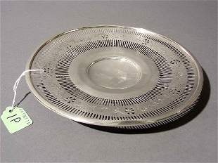 GORHAM STERLING SILVER PIERCED TIDBIT PLATE, with f