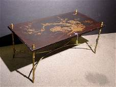 441: SMALL REGENCY STYLE CHINOISERIE DECORATED AND GILT