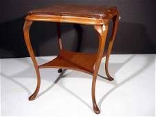 760 AMERICAN VICTORIAN OAK KITCHENOCCASIONAL TABLE c