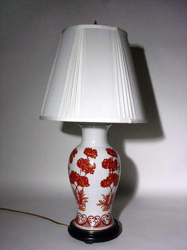 5: DEC CERAMIC ORIENTAL STY BALUSTER FORM TABLE LAMP,