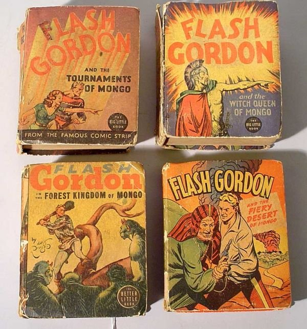 1001V: LOT OF FOUR FLASH GORDON ''BIG LITTLE BOOKS'', a