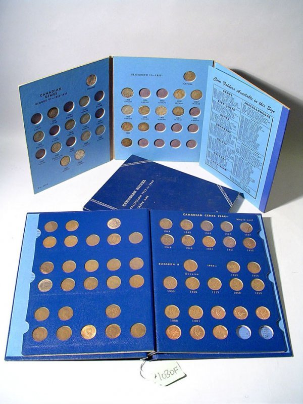 1030F: 4 WHITMAN CANADIAN COIN ALBUMS, including