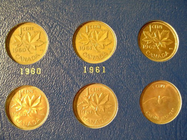 1030F: 4 WHITMAN CANADIAN COIN ALBUMS, including - 4