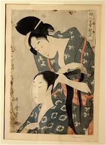 1057: KITAGAWA UTAMARO (Japanese, 1754?-1860); woodbloc