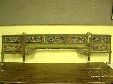1111: 19TH CENTURY CHINESE FLORAL CARVED AND DECORATED