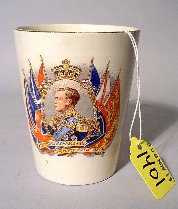 1401: EDWARD VIII EARTHENWARE CORONATION CUP, circa 193