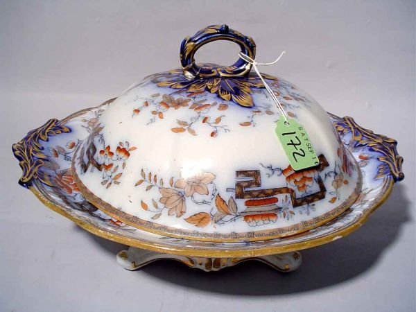 1413: ASHWORTH FLORAL AND GILT DECORATED IRONSTONE CHIN
