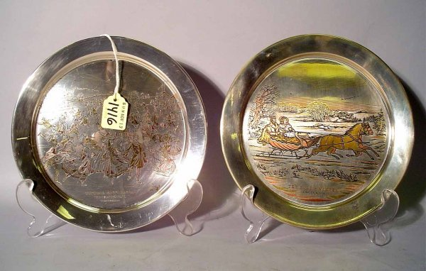 1416: LOT OF TWO DANBURY MINT LIMITED EDITION STERLING