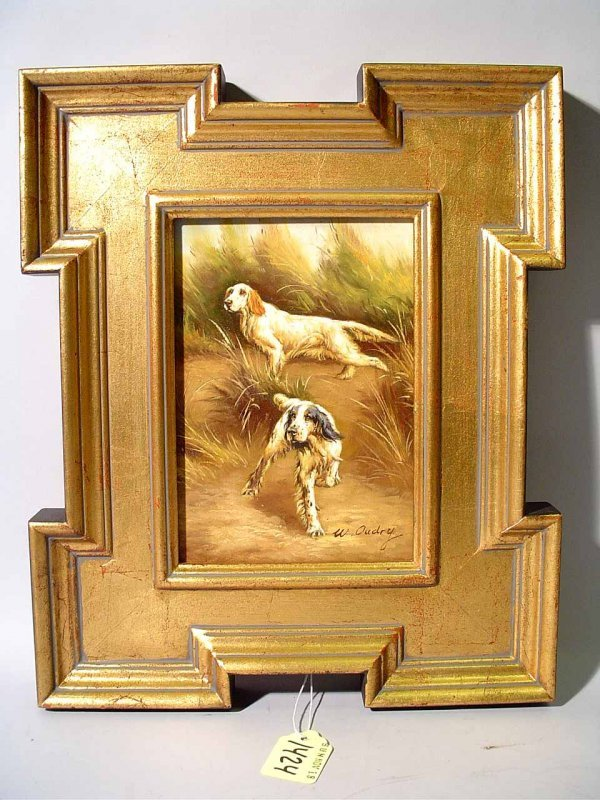 1424: W. OUDRY (European 20th century) oil on panel, ''