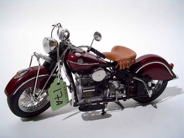 17A: FRANKLIN MINT 1942 INDIAN 442 MOTORCYCLE DIE-CAST