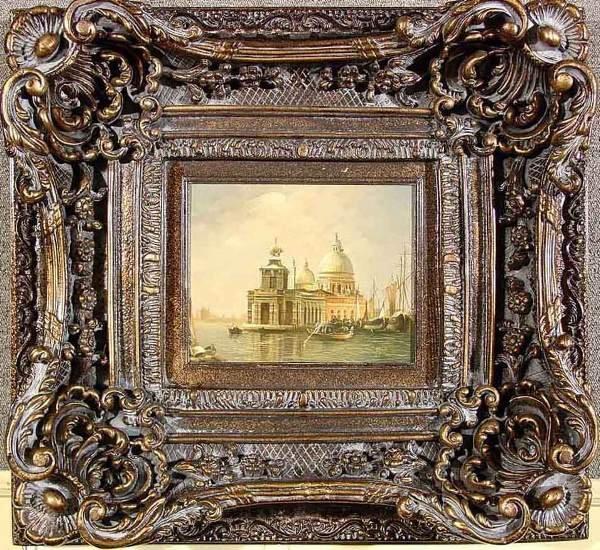 56: EUROPEAN 21ST CENTURY, framed oil on canvas, ''Vene