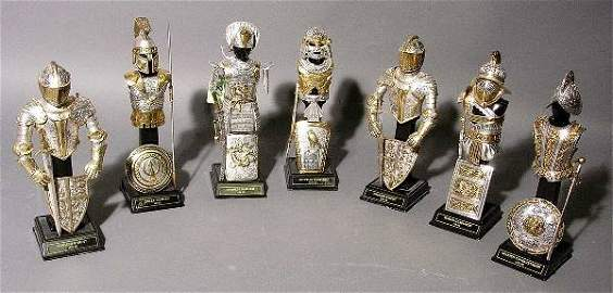 82: COLLECTION OF MINIATURE SILVER AND GILT ACCENTED ME