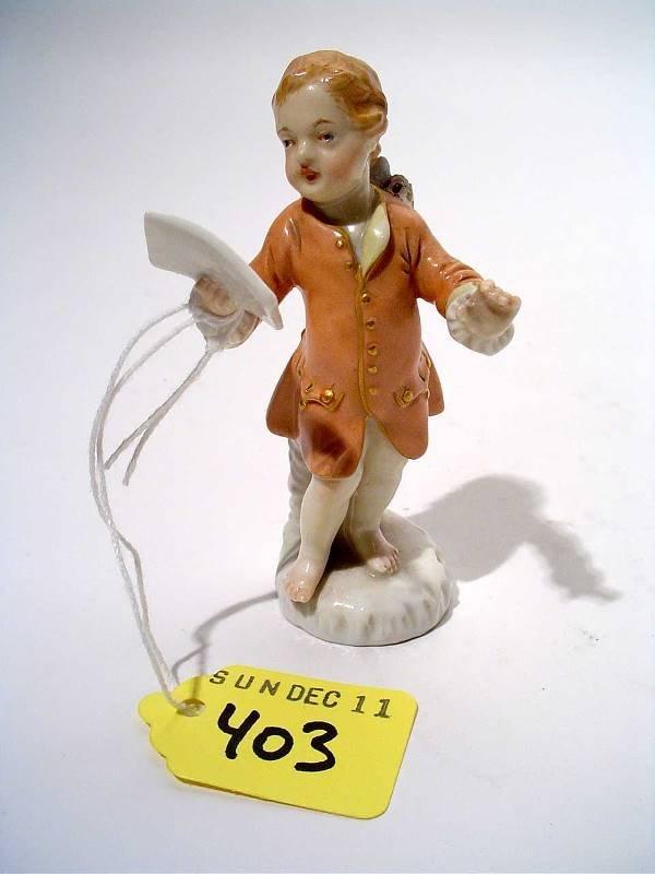 "403: ""SMALL BERLIN PORCELAIN FIGURE, 19th century, mode"