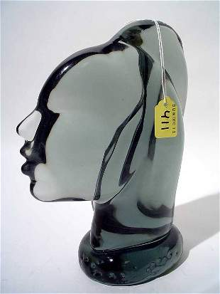 """""""MURANO STYLE COLORED CRYSTAL SCULPTURE OF A WOMAN"""