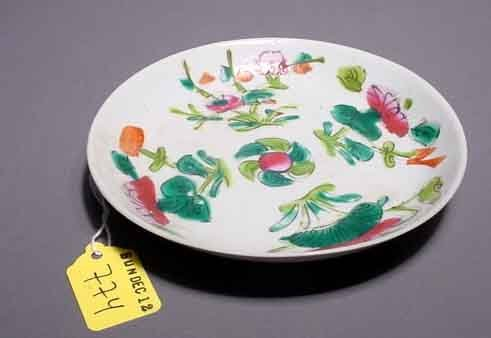 2: ANTIQUE CHINESE CIRCULAR PORCELAIN DISH, Tung Chih,