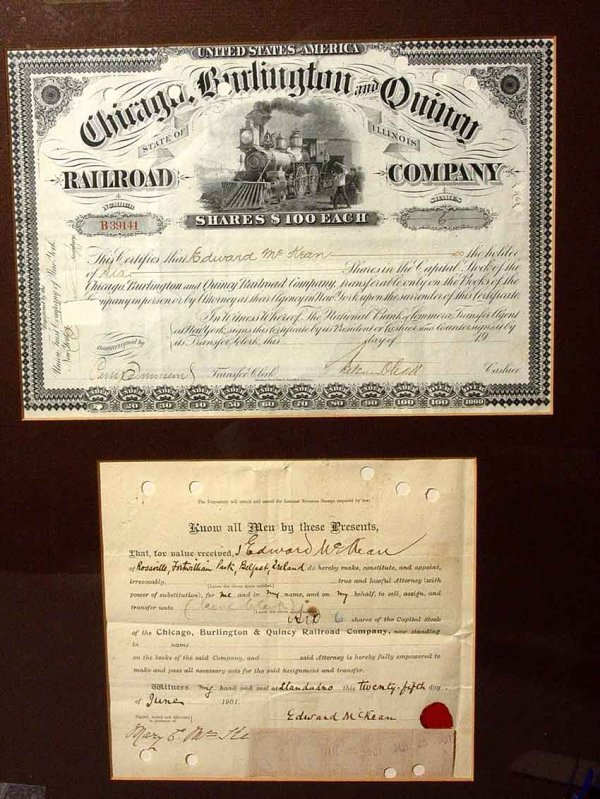18: FRAMED CHICAGO BURLINGTON AND QUINCY RAILROAD COMPA
