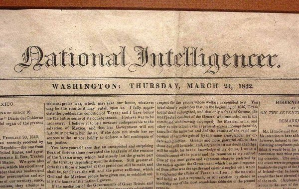 21: FRAMED FRONT PAGE OF THE WASHINGTON DC NEWSPAPER ''