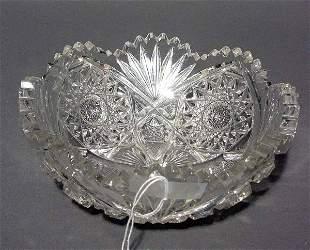AMERICAN BRILLIANT PERIOD CUT GLASS BOWL, late 19th