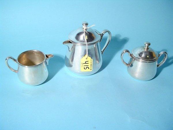 415: 3-PC SILVERPLATED INDIVIDUAL BREAKFAST COFFEE SET