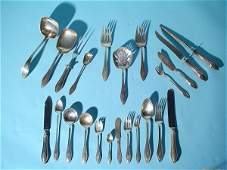 566: EXTENSIVE 334-PIECE SET OF TOWLE STERLING SILVER F