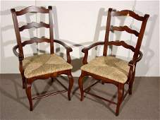 693 SET OF SIX FRENCH PROVENCIAL STYLE FRUITWOOD LADDE