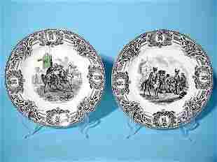 PAIR OF BOCH LA LOUVIERE BELGIUM NAPOLEONIC WAR MEMO