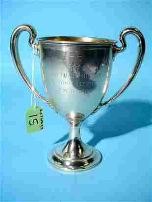 AMERICAN STERLING SILVER TROPHY CUP, by Bailey, Bid