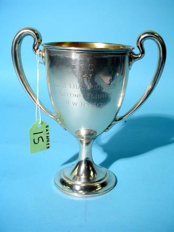 15: AMERICAN STERLING SILVER TROPHY CUP, by Bailey, Bid