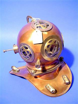 WELL DETAILED SMALL COPPER AND BRASS MODEL OF A NAU