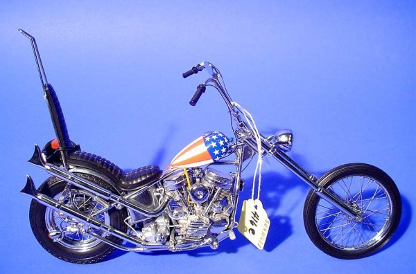 416C: FRANKLIN MINT ''EASY RIDER'' CHOPPER MOTORCYCLE,