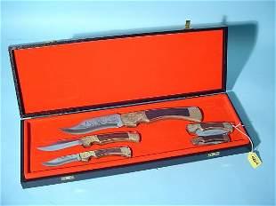 MATCHED SET OF FIVE AITOR ESPANA FOLDING KNIVES I