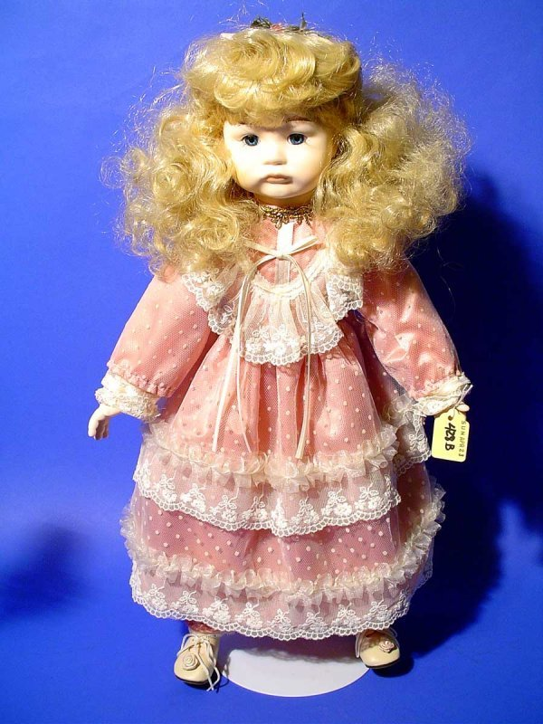 428B: PORCELAIN DOLL, by Seymour Mann, numbered 383,  m