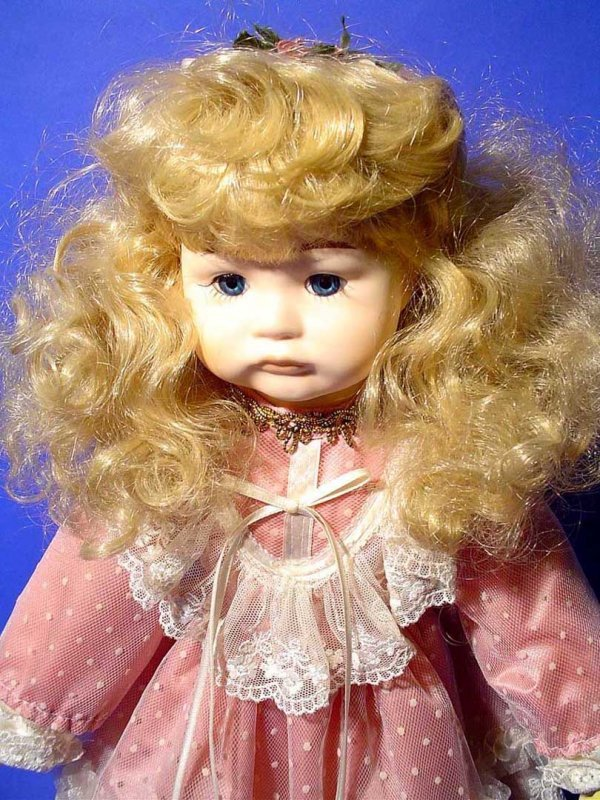 428B: PORCELAIN DOLL, by Seymour Mann, numbered 383,  m - 2